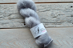 Silver Grey on Mohair-Silk Lace Weight