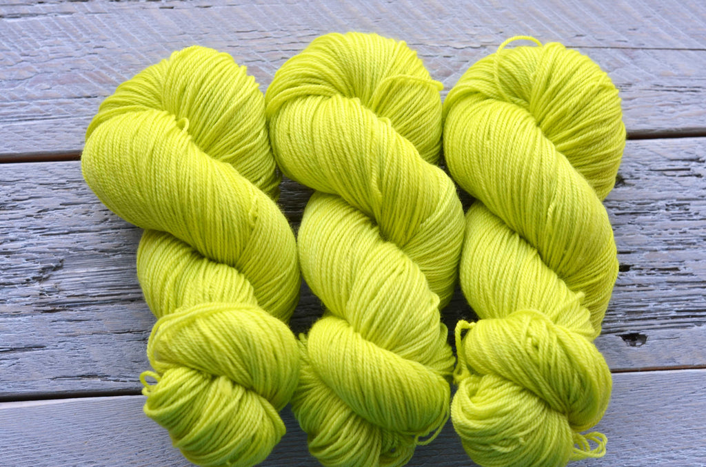 Chartreuse on Basic Sock
