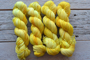 Here Comes the Sun on 50 gram mini skein
