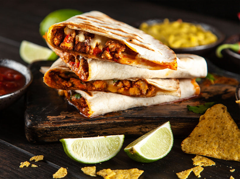 Toasty Mexican Beef Quesadillas - Large