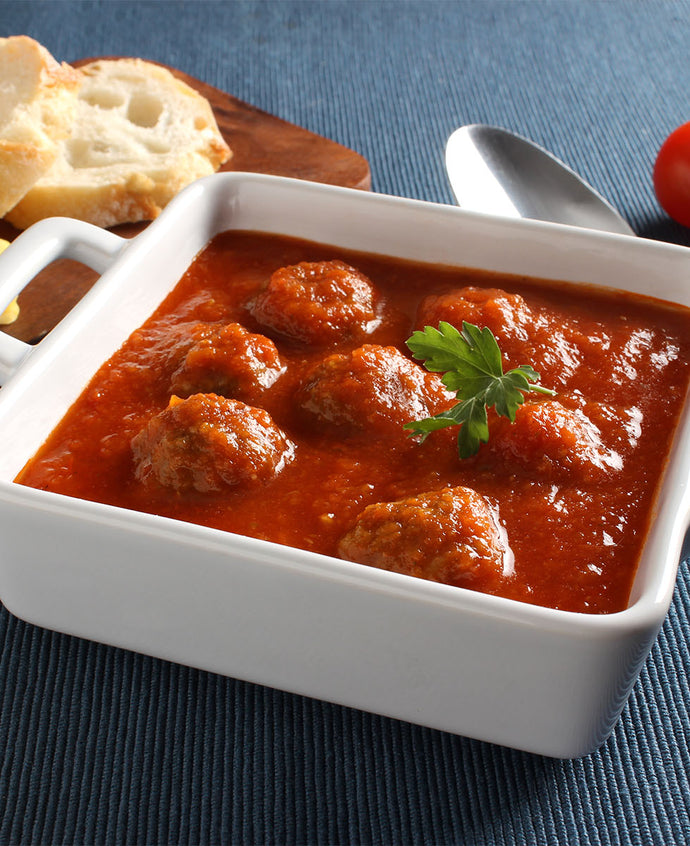 Hearty Meatball and Tomato Soup