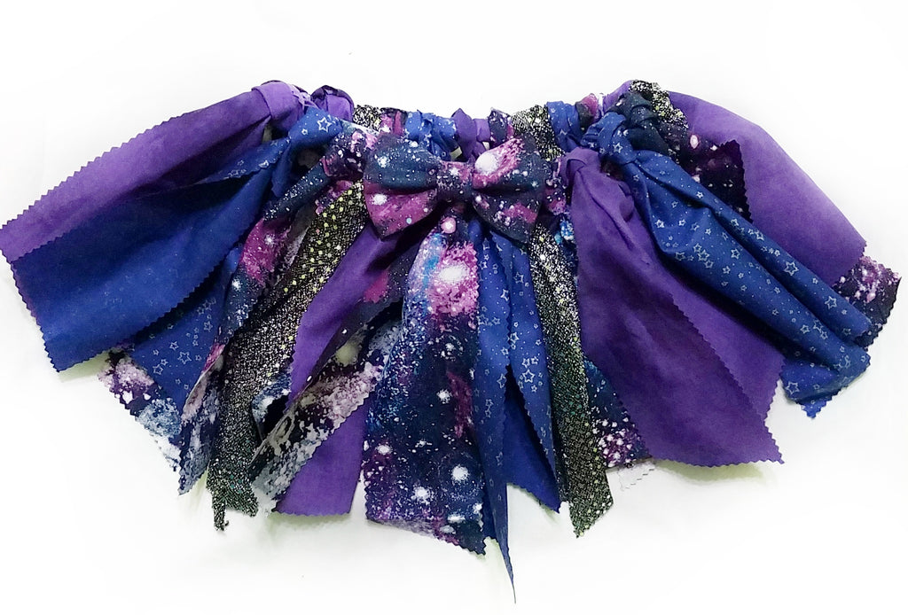 Glitter Galaxy Fabric Scrap Skirt Tutu - Dapper Xpressions