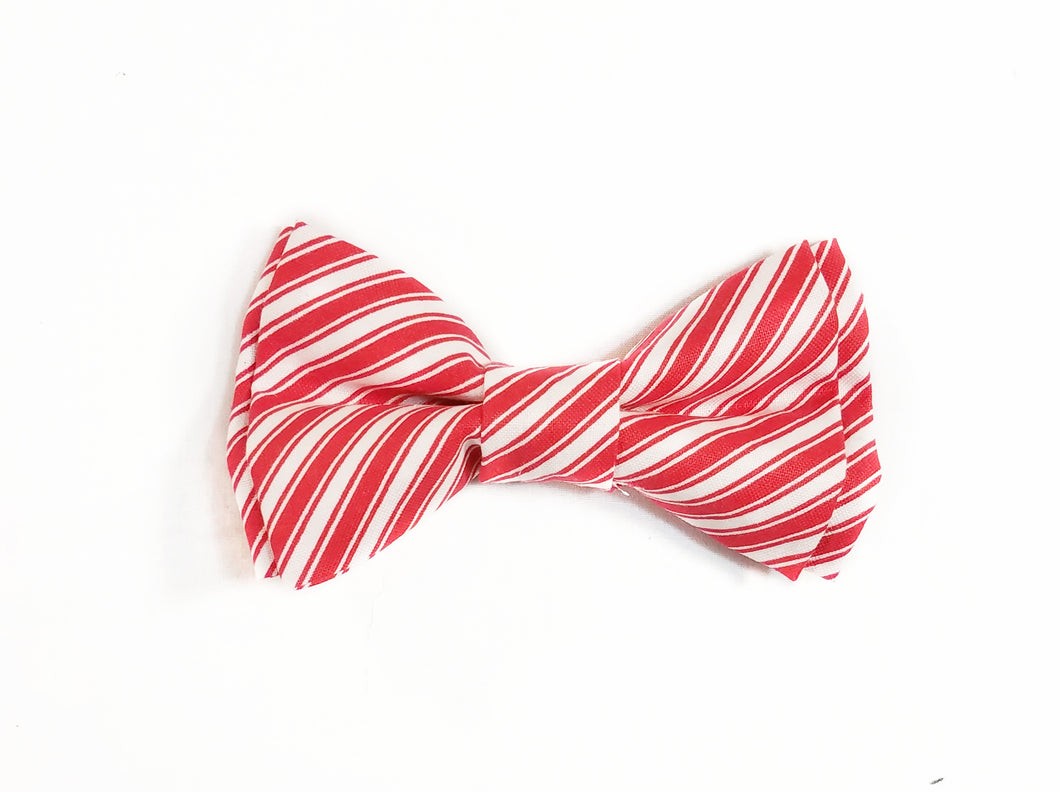 Candy Cane Bow Ties and Hair Bows, Thin Line - SweetLooks Collection