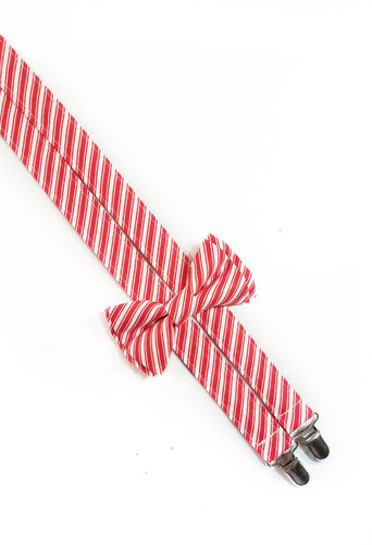 Candy Cane Suspenders, Thin Line - SweetLooks Collection