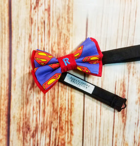Superman Personalized Bow Ties and Hair Bows - SweetLooks Collection