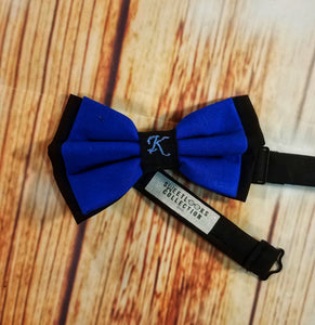 Blue Personalized Bow Ties and Hair Bows - SweetLooks Collection