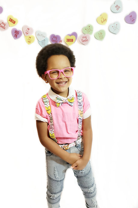 Valentine's Day Conversation Hearts Suspenders