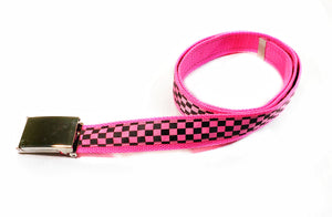 Neon Pink Checkered Belt By SweetLooks Collection - SweetLooks Collection