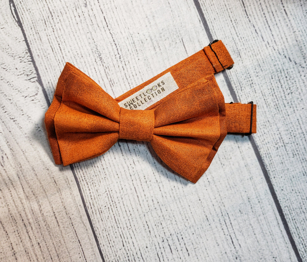 Burnt Orange Bow Ties and Hair Bows By SweetLooks Collection - SweetLooks Collection
