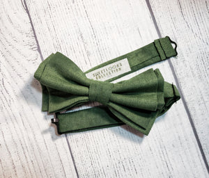 Sage Bow Ties and Hair Bows By SweetLooks Collection - SweetLooks Collection
