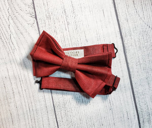 Burgundy Bow Ties and Hair Bows By SweetLooks Collection - SweetLooks Collection