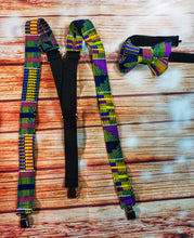 Purple and Yellow Kente Suspenders - SweetLooks Collection