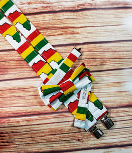 Africa Continent Suspenders By SweetLooks Collection - SweetLooks Collection