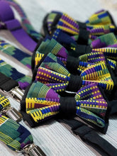 Purple and Yellow Kente Bow Ties and Hair Bows By SweetLooks Collection - SweetLooks Collection