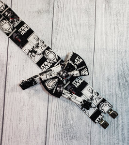 Star Wars Suspenders Black and White By SweetLooks Collection - SweetLooks Collection