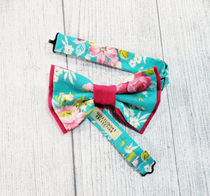 Turquoise Floral Skinny Suspenders By SweetLooks Collection - SweetLooks Collection
