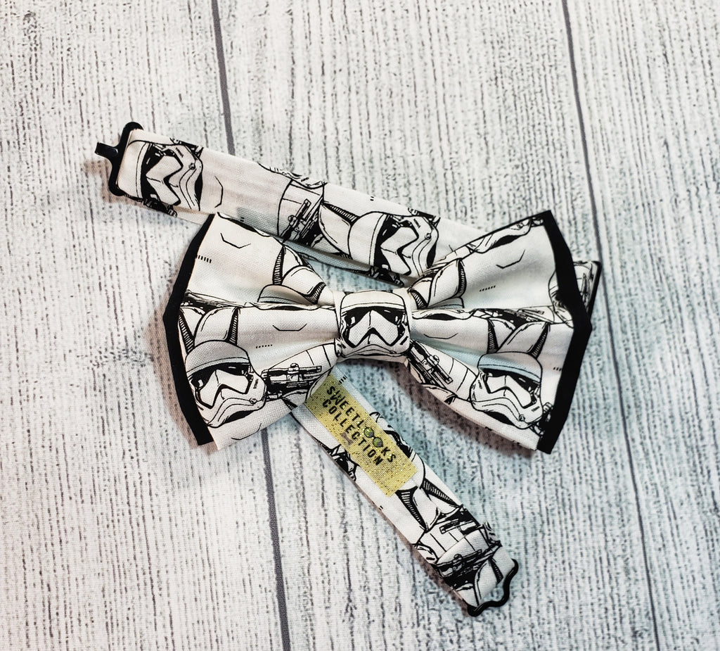 Star Wars Storm Trooper Bow Ties and Hair Bows - Dapper Xpressions