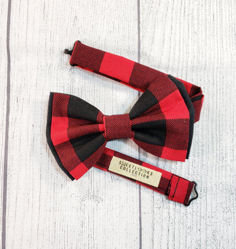 Buffalo Plaid Bow Ties and Hair Bows - SweetLooks Collection