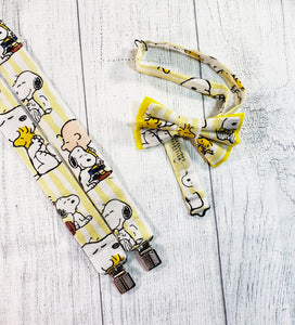 Charlie Brown and Snoopy Suspenders and Bow Tie - SweetLooks Collection