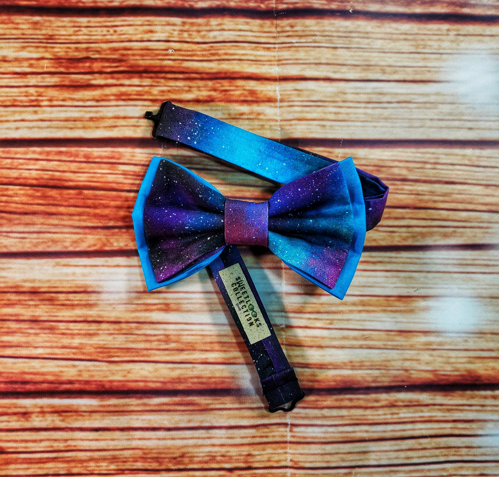 Deep Space Galaxy Bow Ties and Hair Bows - Dapper Xpressions