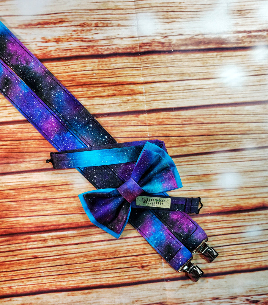 Deep Space Galaxy Suspenders - Dapper Xpressions