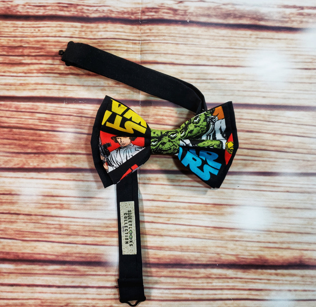 Star Wars Bow Ties and Hair Bows, Multicolored Collage - Dapper Xpressions