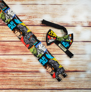 Star Wars Suspenders, Multicolored Collage By SweetLooks Collection - SweetLooks Collection