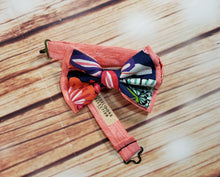 Blue Hawaiian Floral Bow Ties and Hair Bows By SweetLooks Collection - SweetLooks Collection
