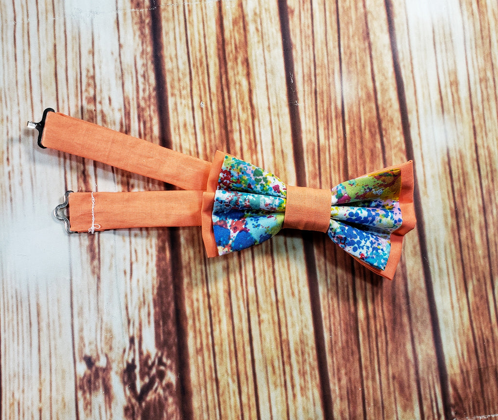 Paint Splatter Bow Ties and Hair Bows - Dapper Xpressions