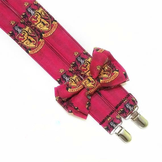 Harry Potter Gryffindor Suspenders - Dapper Xpressions