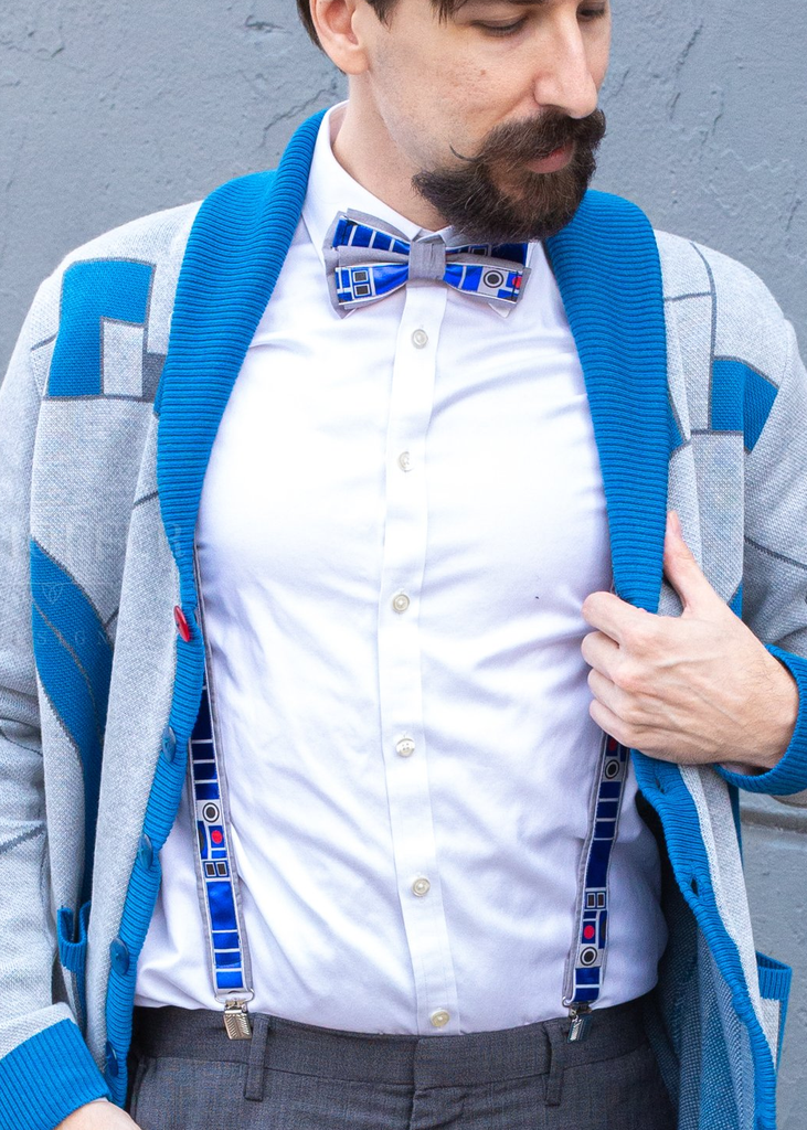 R2D2 Inspired Suspenders - Dapper Xpressions