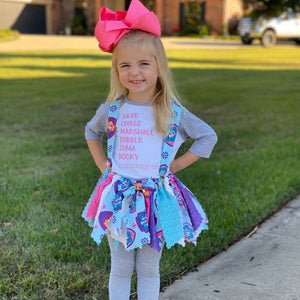 Paw Patrol Fabric Scrap Skirt Tutu - SweetLooks Collection