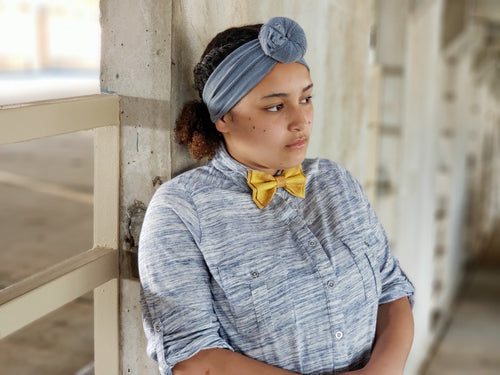 Mustard Yellow Bow Ties and Hair Bows - SweetLooks Collection