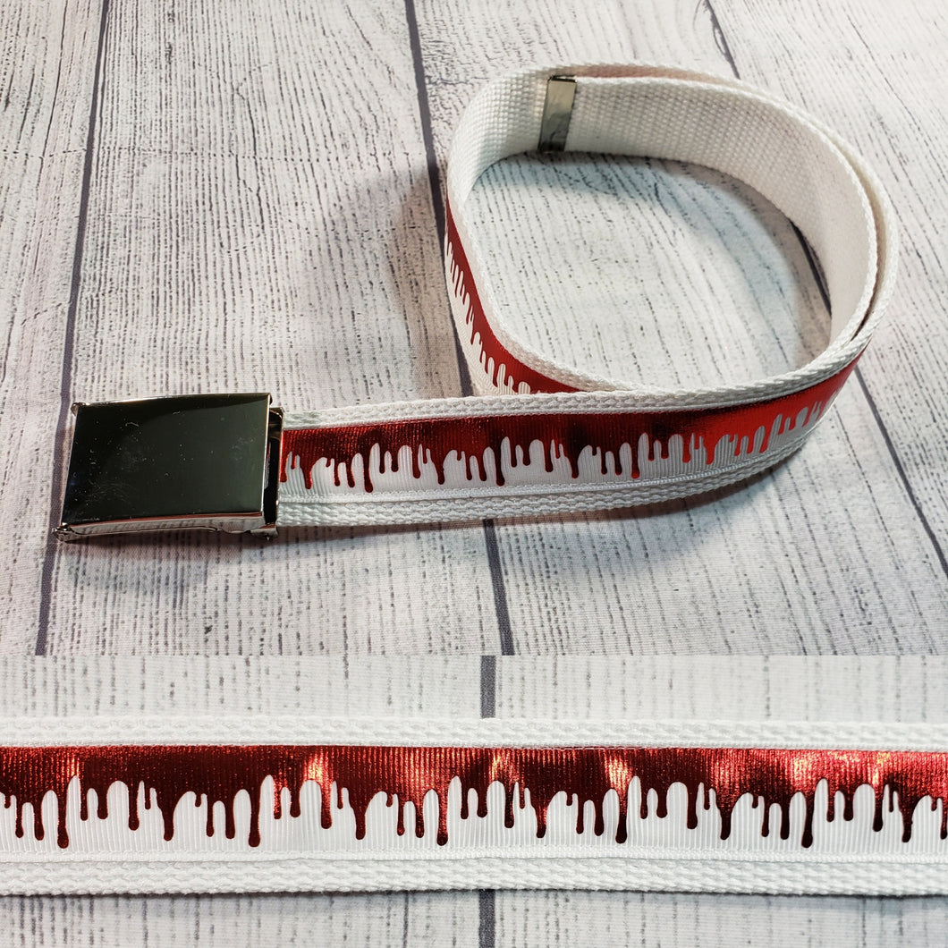 Blood Drip Belt (white) By SweetLooks Collection - SweetLooks Collection
