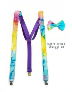 Tye Dye Suspenders By SweetLooks Collection - SweetLooks Collection