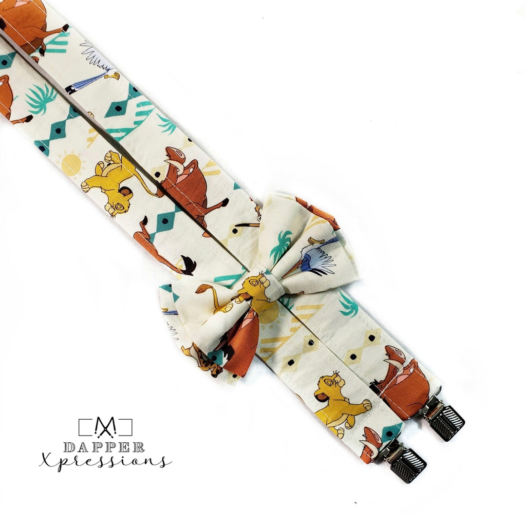 Lion King Suspenders - Dapper Xpressions