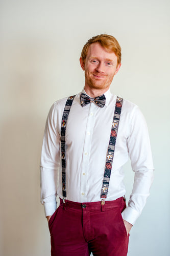 Star Wars Suspenders Gray Blocked By SweetLooks Collection - SweetLooks Collection