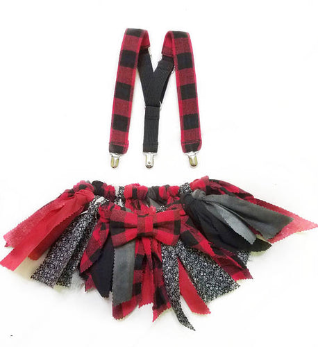 Red and Black Buffalo Plaid Fabric Scrap Skirt Tutu - SweetLooks Collection