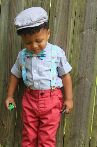 Peppa Pig Suspenders and Bow Tie (or Hair Bow) By SweetLooks Collection - SweetLooks Collection