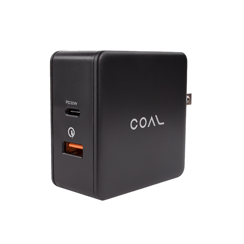 48 Watt Dual port wall charger with QC 3.0 and Type C