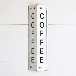 TIN COFFEE 2 SIDED SIGN