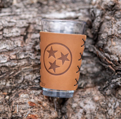 TN leather Pint Glass