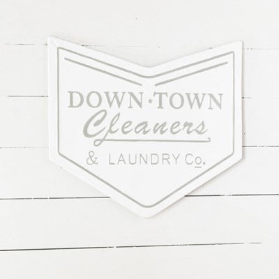 DOWNTOWN CLEANER TIN SIGN