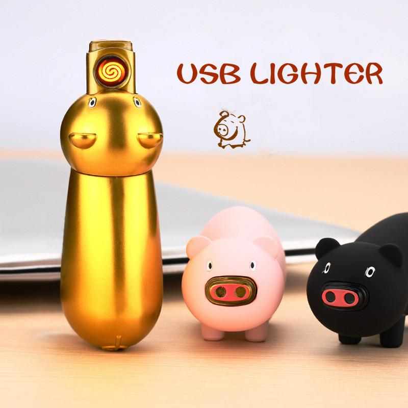 Cute Pig Tesla Coil Electric Lighter
