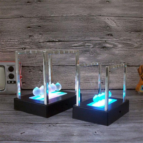 Electric LED Newton's Cradle balls