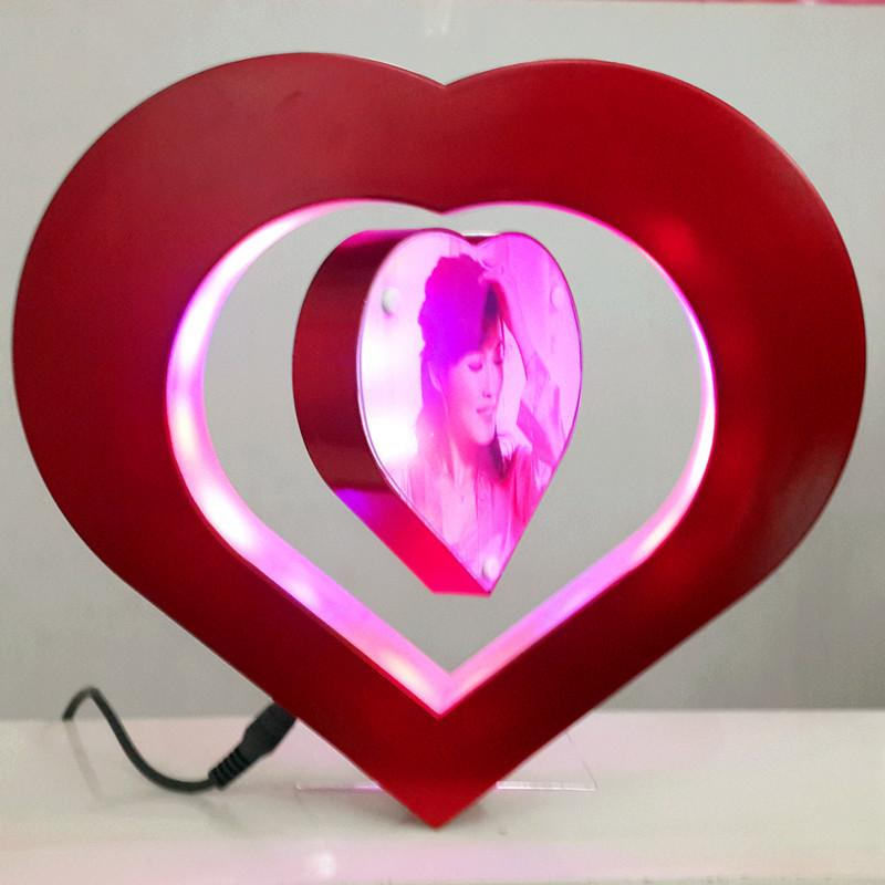 Romantic Heart Shape Magnetic LED Photo Frame