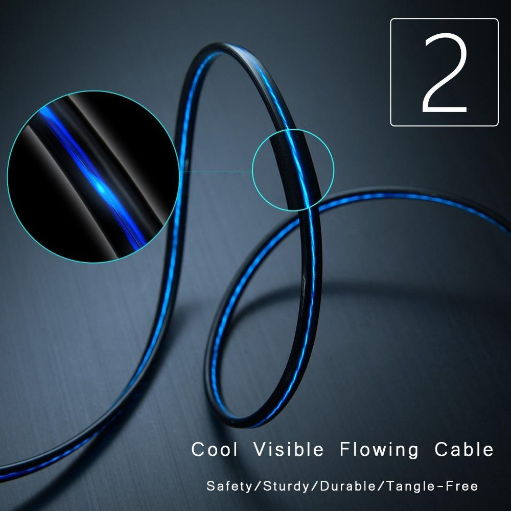 Flowing Light Charging Cable