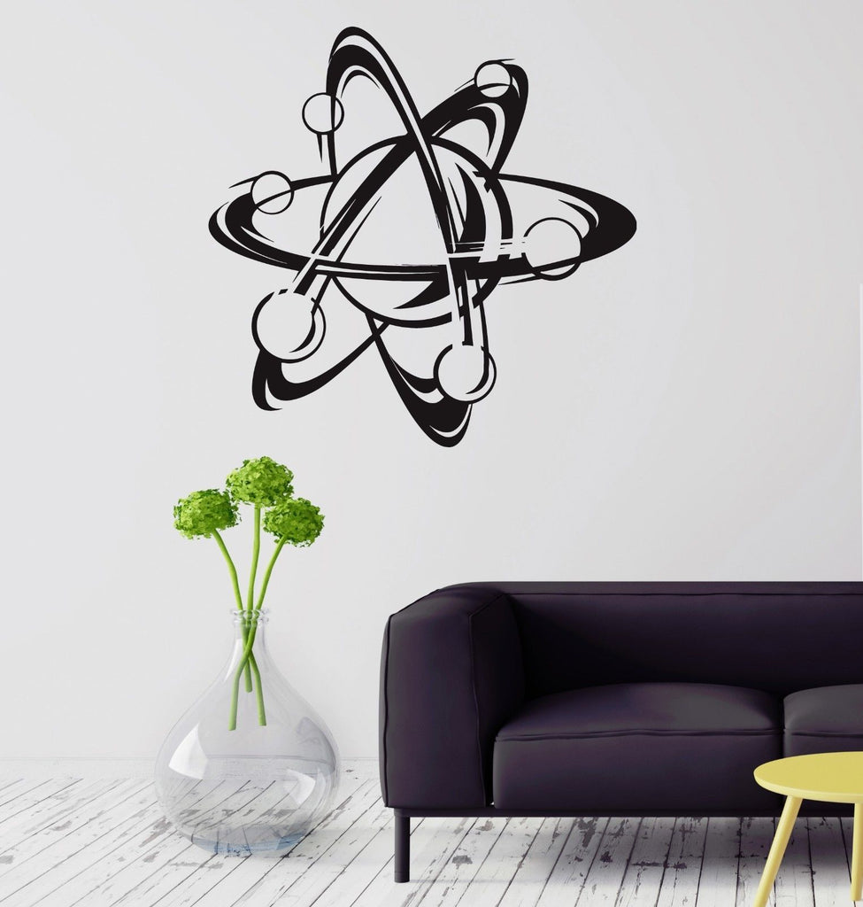 Atom Science Wall Art Decal