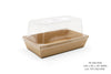 RECTANGULAR SNACK CONTAINERS WITH DOME LIDS