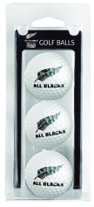 All Blacks Golf, 3 Ball Pack White
